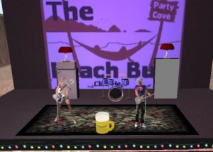 Second Life band Friendly fires rocks the Beach Bum!