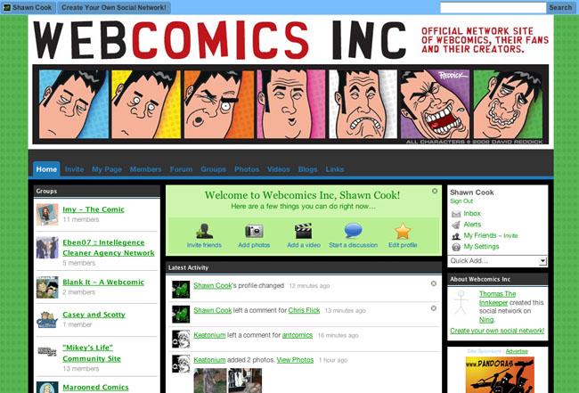 WebcomicsInc.com Screenshot