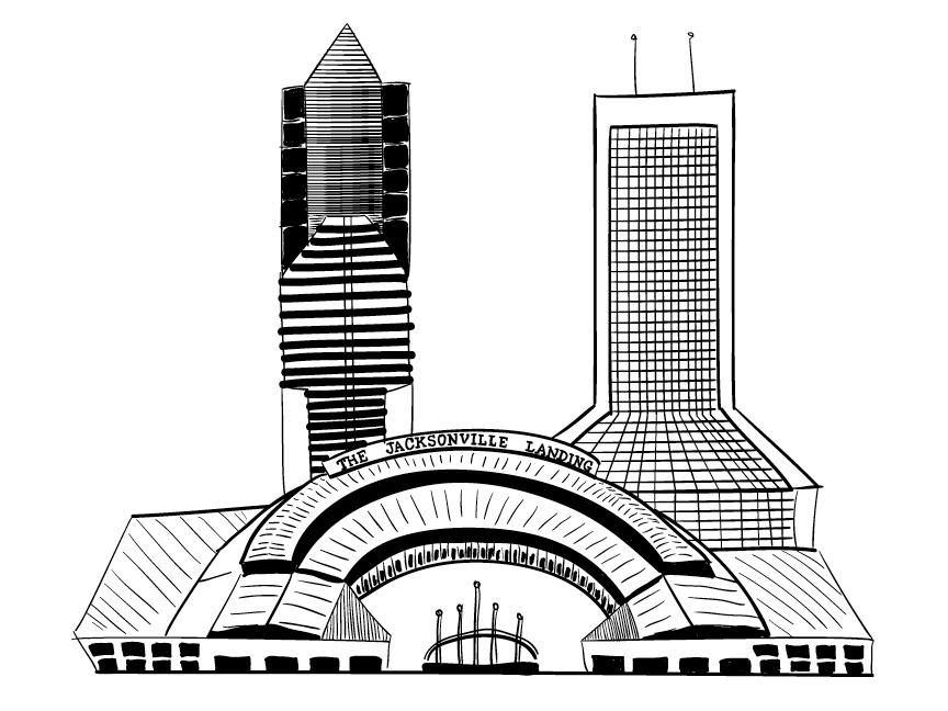 The Jacksonville Landing Illustration